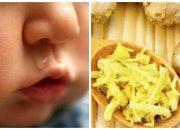 Trị nhanh ho sổ mũi cho bé sau 3 ngày với bài thuốc dân gian từ gừng