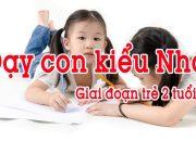 Phương pháp giáo dục con hiện đại – Dạy con kiểu Nhật giai đoạn 2 tuổi