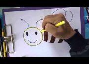 Dạy bé vẽ các loài động vật – Dạy bé vẽ con ong – How to draw a bee
