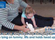 Dạy trẻ vận động 0-3 tháng tuổi