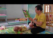 Dạy trẻ thông minh sớm phương pháp Glenn Doman, bé Sampo 4 tháng 20 ngày tập phản xạ