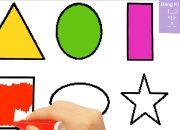 Hướng dẫn bé tô màu và Dạy Bé Hình Học Cơ Bản, Học Hình Đơn Giản