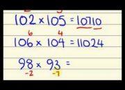 Thủ Thuật Tính Nhẩm – Mẹo Tính Nhẩm Phép Nhân (Speed Maths for fast calculation)