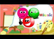 Dạy bé học màu sắc | em tập nhận biết màu qua bài học vui nhộn | Dạy trẻ thông minh sớm