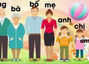 Dạy bé học nói về các thành viên trong gia đình