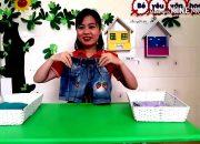 Dạy trẻ gấp quần áo – cho trẻ 4 – 5 tuổi – Trường MN Hoa Lâm – Đông Anh – Hà Nội