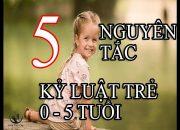 Cách Dạy Con | 5 nguyên tắc kỷ luật hiệu quả cho trẻ từ 0 – 5 tuổi
