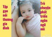 Mẹ dạy con yêu gia đình và phát triển ngôn ngữ cho con