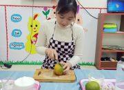 Dạy trẻ pha nước cam _ mẫu giáo 4-5 tuổi