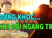 Tâm Bất An Đêm Khó Ngủ Nghe Phật  Dạy ĐỪNG KHÓC KHI ĐỜI ĐAU KHỔ Để Tĩnh Tâm Ngủ NGon Hơn