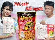 Nét Chữ Nết Người – Mẹ Dạy Con Học Bài Với Bánh Que Thái –  búp bê chibi