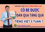 Bài tập Phát triển năng lực Môn Tiếng Việt Lớp 5 Tuần 7 | Viết đoạn văn tả màu sắc của một loài hoa