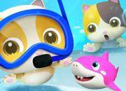 Buổi đi bơi của 5 bạn nhỏ | Mèo con đi bơi | Nhạc thiếu nhi vui nhộn | BabyBus