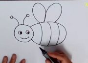 Dạy vẽ con ong _ Hướng dẫn vẽ con ong _ How to draw a bee.