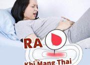Ra máu khi mang thai 3 tháng đầu